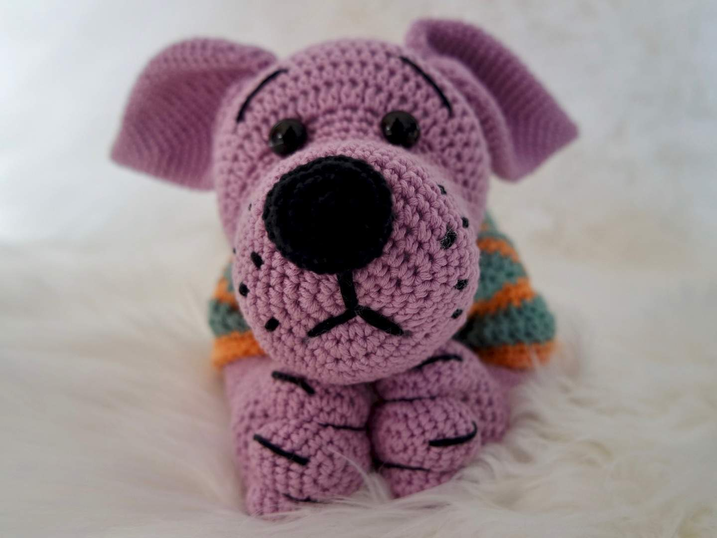 Hippo in swimsuit crochet pattern - Amigurumi Today | 1080x1439