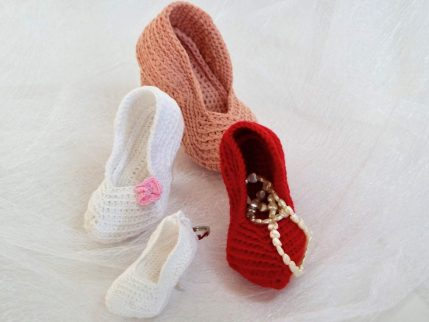 Anleitung High Heels / Brautschuh Amigurumi häkeln als Geschenk