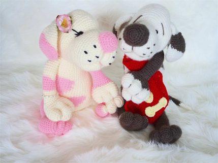Häkelanleitung Amigurumi Coco und Manni Hund