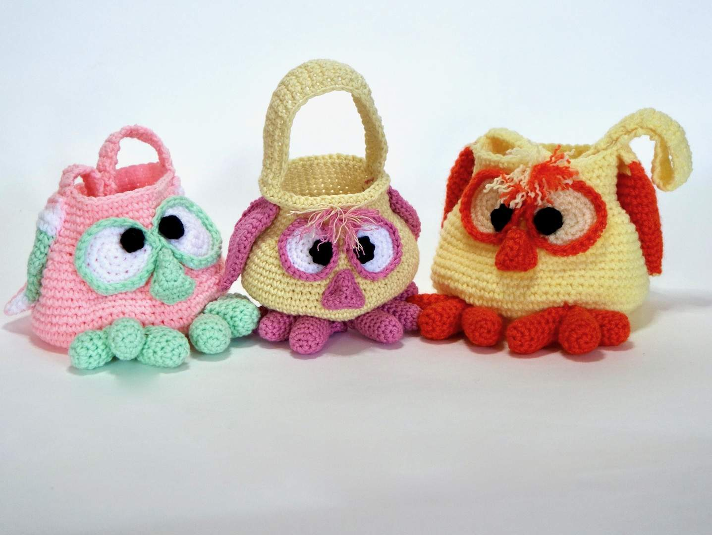 Eule: Häkelanleitung Kindertasche