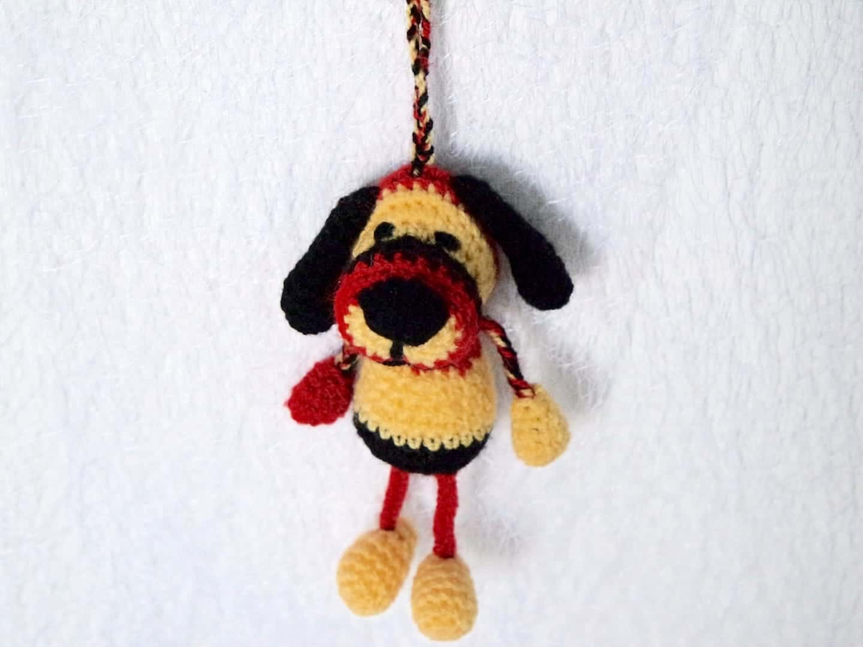 Häkelanleitung Schlüsselanhänger Hund Wolligurumi