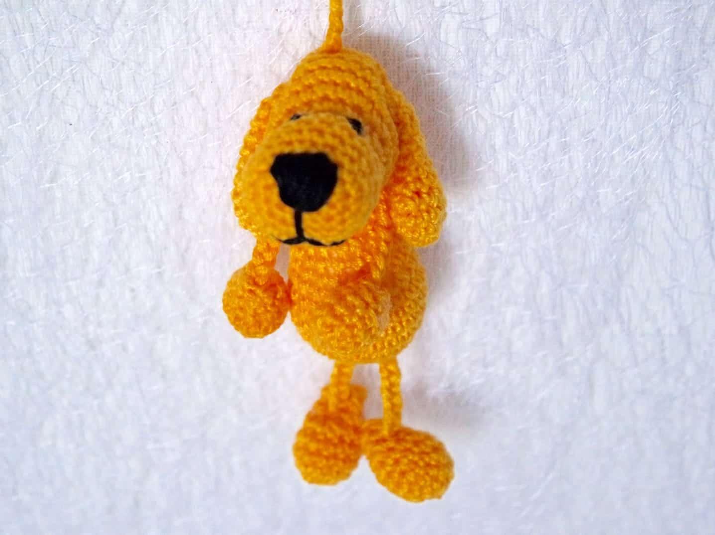 Häkelanleitung Schlüsselanhänger Hund - Wolligurumi