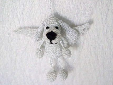 Amigurumi Häkelanleitung Schlüsselanhänger Hund als Engel