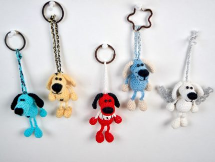 Anleitung Schlüsselanhänger Hund häkeln