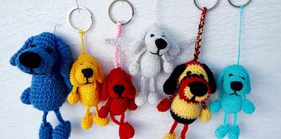 Schlüsselanhänger Hund häkeln, Anleitung
