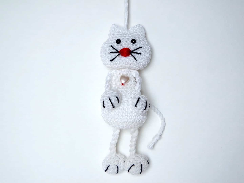 Häkelanleitung Schlüsselanhänger Katze Wolligurumi