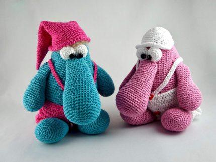 Anleitung Puppe häkeln: Ernie und Bernie