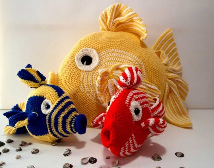Kissen Häkelanleitung Fisch Franz