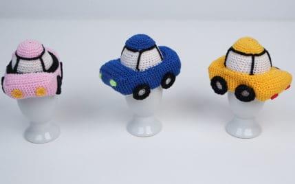 Auto Amigurumi als Eierwärmer häkeln