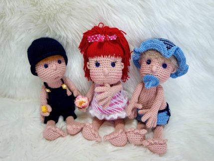 Anleitung zum Puppe häkeln: Mimi und die Strolche