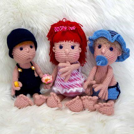 Puppe häkeln, Anleitung: Mimi und die Strolche