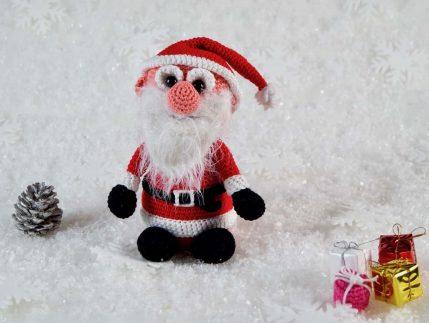 Häkelanleitung Weihnachtsmann