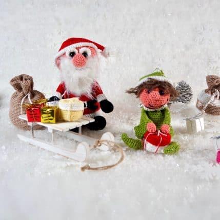 Weihnachtsmann und Helferlein häkeln, Anleitung