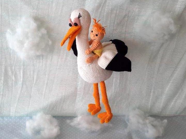 Häkelanleitung Windelpupser Im Anflug Storch Und Baby Wolligurumi