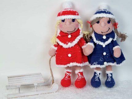Anleitung Puppe häkeln: Bine das Wintermädchen