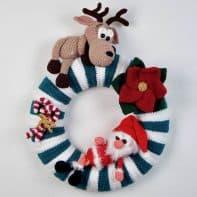 Weihnachten: Kranz für die Tür häkeln, Anleitung