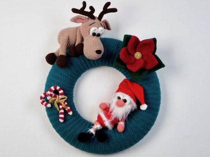 Kranz häkeln Weihnachten, Anleitung