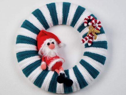 Weihnachten Türkranz, Häkelanleitung
