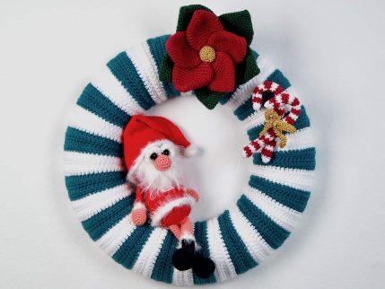 Anleitung Türkranz häkeln: Weihnachten