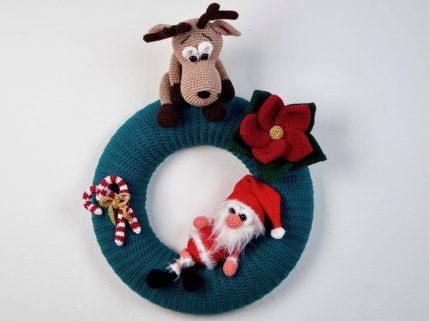 Häkelanleitung Türkranz Weihnachten