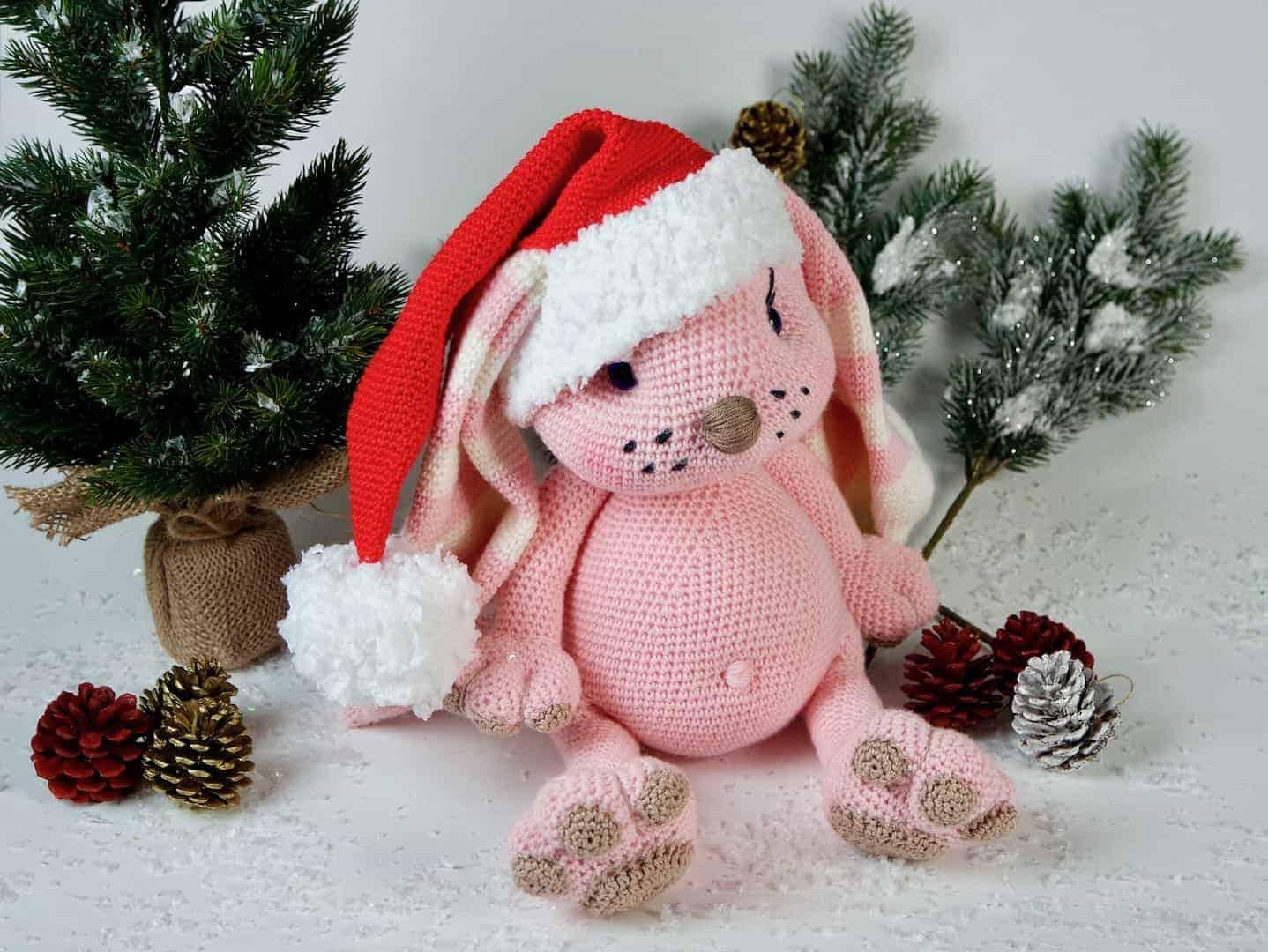 Häkelanleitung Der Weihnachtshase - Wolligurumi