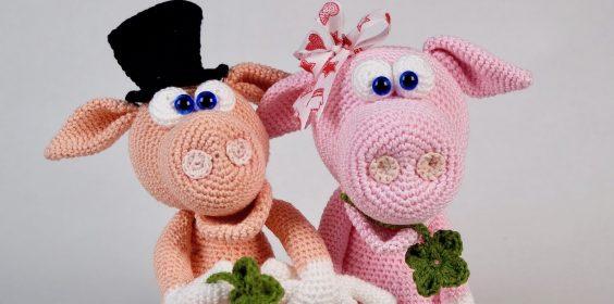 Schwein häkeln: Gisbert und Gisela, Häkelanleitung