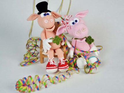 Schwein zu Neujahr, Häkelanleitung Gisbert