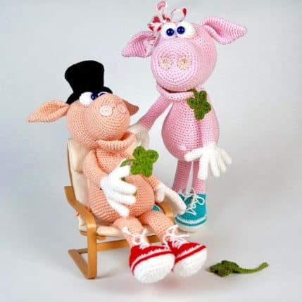 Amigurumi häkeln: Schwein Gisbert und Gisela