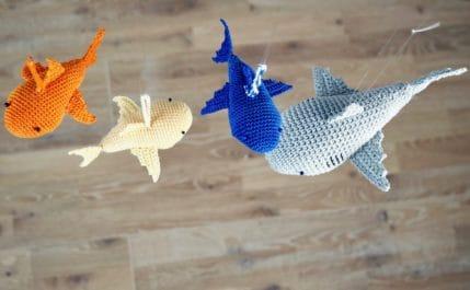Häkelanleitung Taschenbaumler Hai