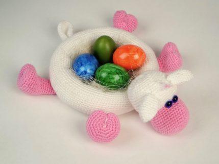 Schaf Körbchen für Eier oder anderes, Häkelanleitung