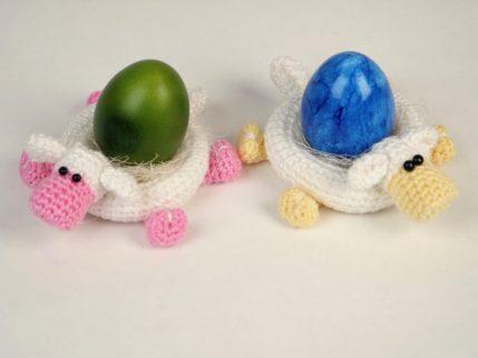 Anleitung Eierbecher Schaf häkeln
