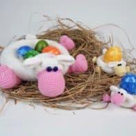 Anleitung: Häkeln Osterkörbchen und Eierbecher