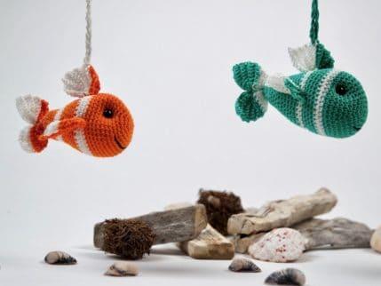 Fisch als Schlüsselanhänger häkeln