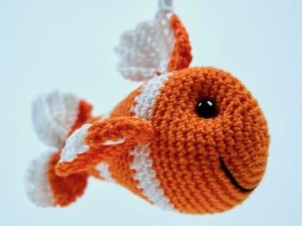 Anleitung zum Häkeln eines Fisch Schlüsselanhänger