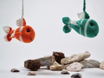 Fisch als Taschenbaumler, Häkelanleitung