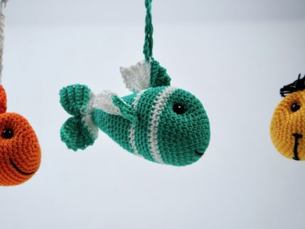 Fisch als Taschenbaumler häkeln, Anleitung