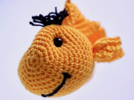 Schlüsselanhänger Fisch, Häkelanleitung