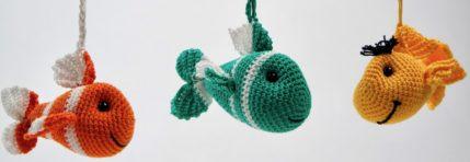 Fisch Schlüsselanhänger zum Häkeln, Anleitung