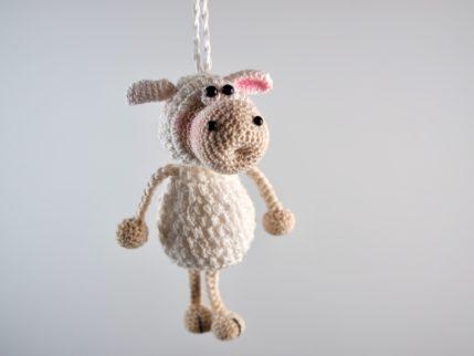 Häkelanleitung Schlüsselanhänger Schaf