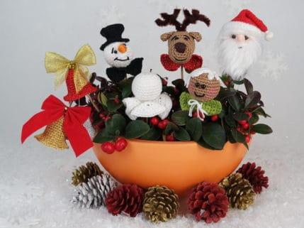 Die Weihnachtsanhänger: zum selber häkeln für den Baum oder zum Stecken