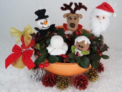 Die schöne Kleinigkeit: Weihnachtsstecker zum selber häkeln oder auch zum am Baum hängen