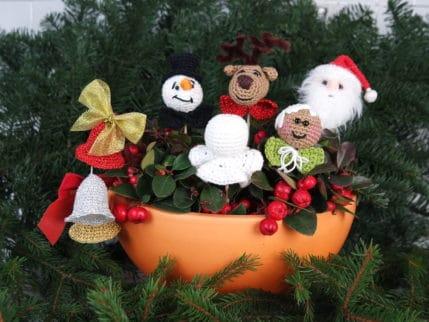 Weihnachtsanhänger häkeln. Für den Baum oder zum Stecken