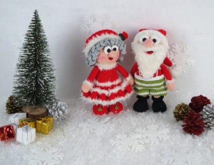 Häkelanleitung Weihnachtsmann: Wilma und Werner