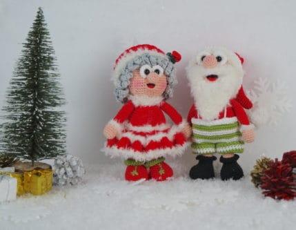 Weihnachtsmann häkeln: Wilma und Werner