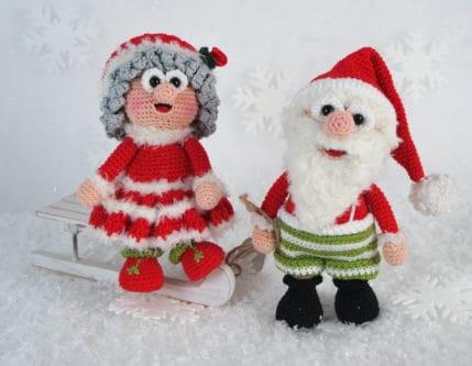 Häkelanleitung: Wilma und Werner Weihnachtsmann bringen die Päckchen