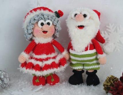 Häkelanleitung Weihnachtsmann: Wilma und Werne