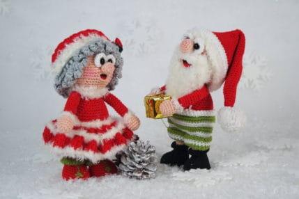Weihnachten häkeln: Wilma und Werner Weihnachtsmann, Häkelanleitung