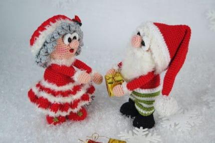Wilma und Werner Weihnachtsmann häkeln - Anleitung