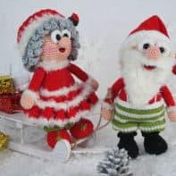 Wilma hilft dieses Jahr ihrem Mann Werner Weihnachtsmann an Weihnachten - Häkleanleitung