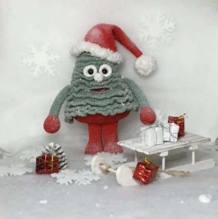 Der singende / sprechende Weihnachtsbaum, Häkelanleitung